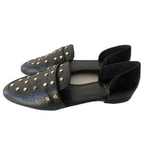 VINCE CAMUTO Women's BLACK LEATHER MULES Sandals